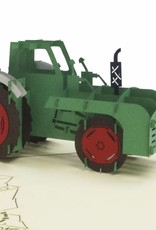 PoP Up birthday card ,3D greetings card, Tractor, No. 320