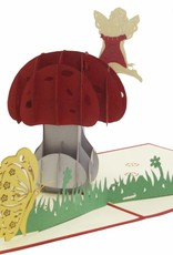 Pop up greeting card with flowers,nature  Birthday greeting card, Mother's day,  Mushroom No. 321