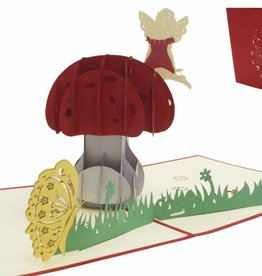 Pop up greeting card with flowers,nature  Birthday greeting card, Mother's day,  Mushroom N321