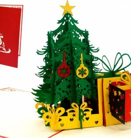 Pop Up Christmas card, greeting card for christmas, Christmas tree with presents N453