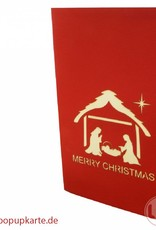 Pop Up Christmas card, greeting card for christmas, Christmas crib, Baby Christ, No. 438
