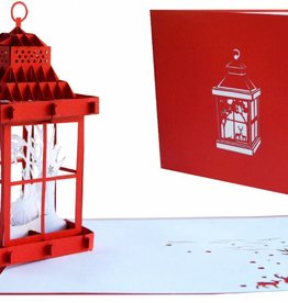 Pop Up Card - Christmas Lantern (No. 444)