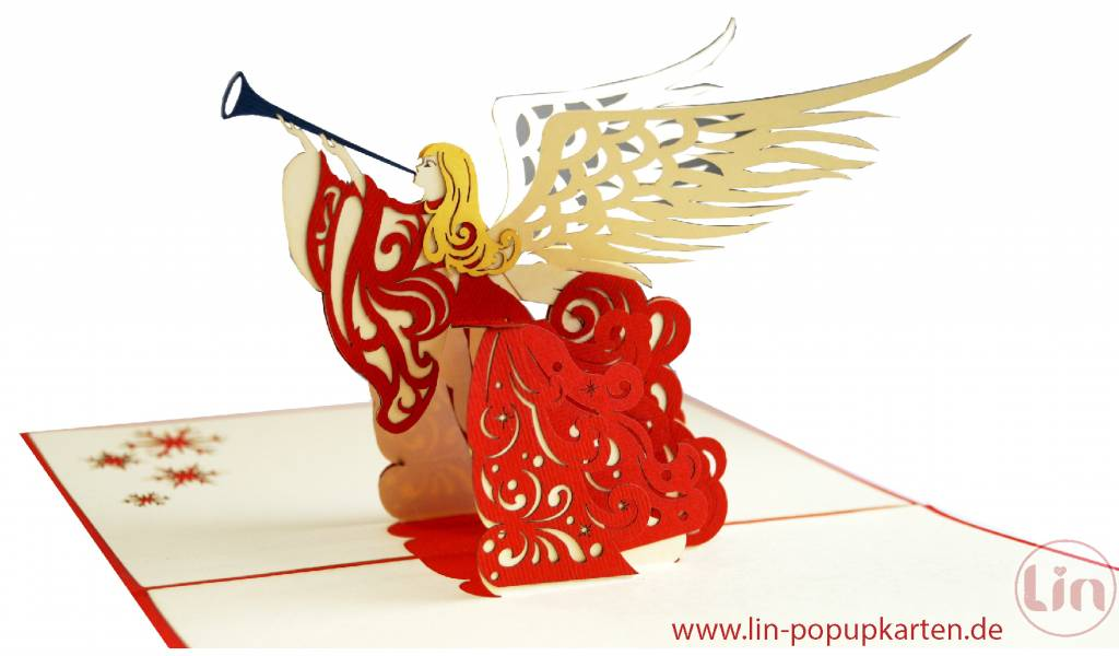 Pop Up Christmas card, greeting card for christmas, Christmas angel, No. 450