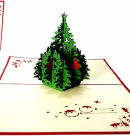 Pop up christmas card, christmas tree (var 1)