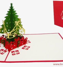 Pop up christmas card, christmastree
