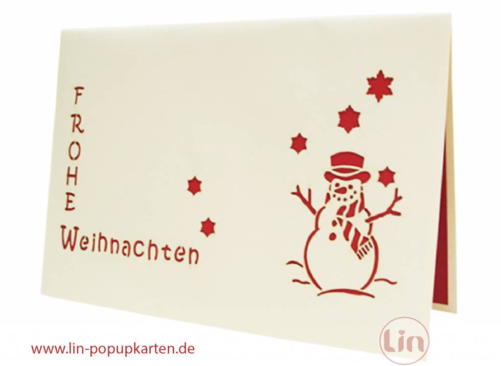 "Pop Up Christmas card, Christmas tree ""Frohe Weihnachten"""