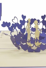 Kissing couple inside a heart (purple)