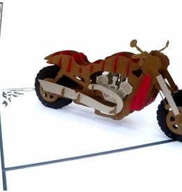 Pop up card, motor bike chopper