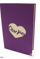 """""""Danke"""" with butterfly and heart"""
