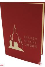 Pop Up 3D Karte, Glückwunschkarte, Reisegutschein, Frauenkirche, N176