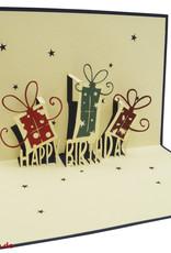 Pop Up 3D Karte, Geburtstagskarten,Glückwunsch karte, Kindergeburtstag, Partyeinladung, Geschenke, N3