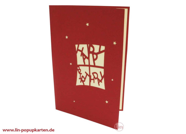 Pop Up 3D Karte, Geburtstagskarten,Glückwunsch karte, Kindergeburtstag, Partyeinladung, Geschenke, N4