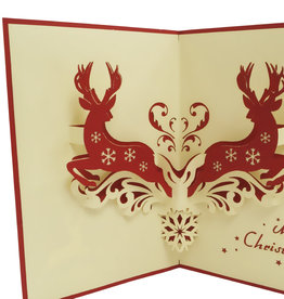 Pop up christmas card, deers