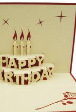 Pop Up 3D Karte, Geburtstagskarten,Glückwunsch karte, Kindergeburtstag, Partyeinladung, Torte, N2
