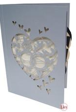 Pop Up Card wedding card, wedding invitation, wedding rings, N712