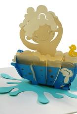 Pop Up 3D Karte Deluxe, Geburtskarte, Glückwunsch zur Geburt, Baby Karte, N710