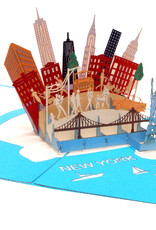 Pop Up 3D Card, Birthday Card, Greeting Card, Travel Voucher, New York USA, N717