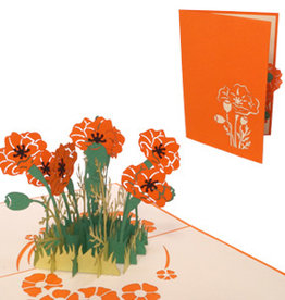 LIN Pop Up Card - Orange Poppy