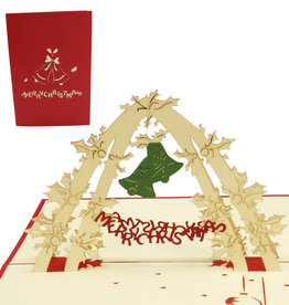Pop up christmas card, christmasbells (var 2)