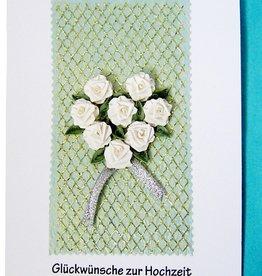 Quilling, Grußkarte geburtstag, Creative Paper Quilling, Papier Quilling Set-Quilling, Papierstreifen, Blumenkarte, Rosen,Pop Up Karte Blumen, Hochzeitskarte,