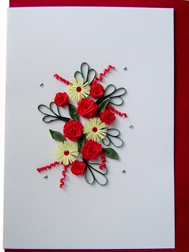 Quilling card  flowers