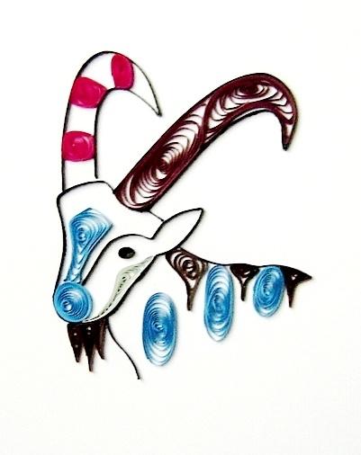 Quilling card zodiac Capricornus