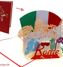 Pop Up Card , Greeting card City Trip Italy Holiday Voucher Venice, N716 - Copy