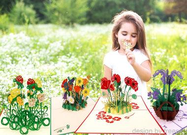 LIN POP UP Flower cards