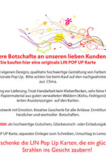 LIN 17658, Pop Up Karte Schmetterling, Pop Up Karte Geburtstag, Pop Up Geburtstagskarte, 3D Karten Natur, Geburtstagskarten, Muttertagskarten, Grußkarte Schmetterling, Lila, N384