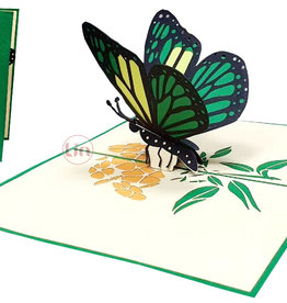 LIN Pop Up Card, Greeting cards, Birthday, Congratulations, Butterfly, N383