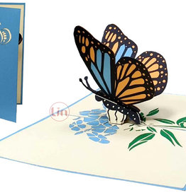 LIN Pop Up Card, Greeting cards, Birthday, Congratulations, Butterfly, N382