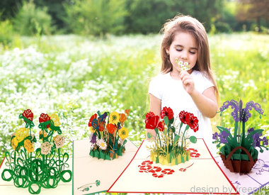 "Flower Cards from the ""secret garden"""