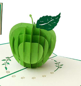 POP UP cards, 3D cards Get well soon, 3D card folded card, green apple, N378