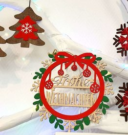 Weihnachtsdekoration, Tür Tannenbaum Anhänger Christbaumschmuck, N901