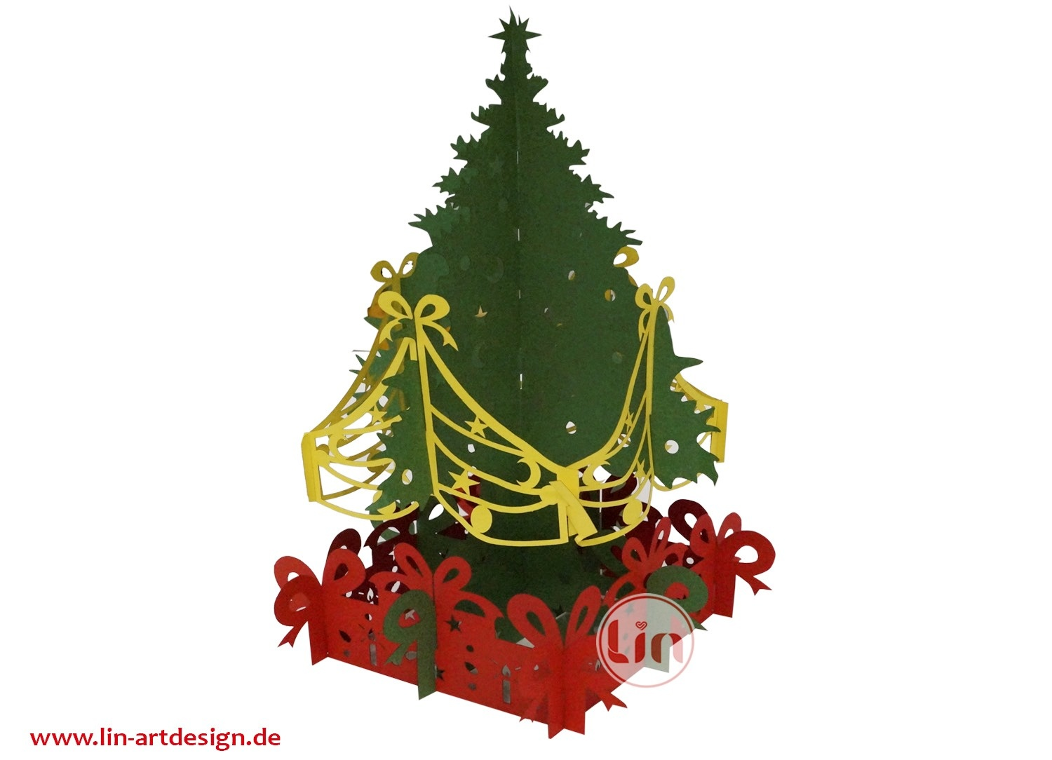 3D Pop up puzzle, Christmas tree
