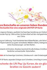 LIN17636, POP UP Karte Blumen, Trauer Grußkarte, Beileid Karten, Dankesagung, Kondolenzkarte, Gedenkkarte, Weiße Rosen, N367
