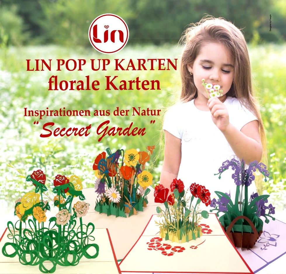 LIN POP UP Karten Blumen Flower