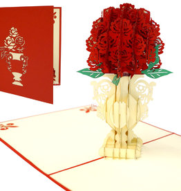Pop Up 3D Card, Greeting Card, Greeting Card Flowers, Birthday Cards, Gift Certificate, Gift, Roses, N360