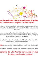 LIN17747, Pop Up Karte Baum, Pop Up Geburtstagskarte, Grußkarten Blumen, Klappkarte Geburtstagskarte, Muttertag, Vatertag, Danke, Viel Glück, Gute Besserung, Wunschbaum, N393