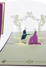 Brautpaar im Schlossgarten (violet)