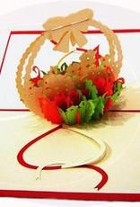 Pop Up 3D Karte, Geburtskarte, Glückwunschkarte Muttertag, Blumen, N35