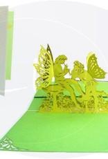 Pop Up 3D Karte, Valentinskarte, Hochzeitseinladung, Hochzeitskarte, Elfen flötend, N82