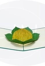 Pop Up 3D Karte, Geburtstagskarte, Glückwunsch karte Gutschein, Gelbe Blume, N53