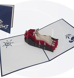 Pop up birthday card, jetsky