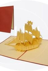 Pop Up 3D Karte, Geburtstagskarte, Glückwunsch karte, Gutschein, Segelschiff,  N113