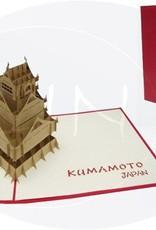 Pop Up 3D Karte, Glückwunsch Karte, Reisegutschein Japan Manga, Burg Kumamoto, N165