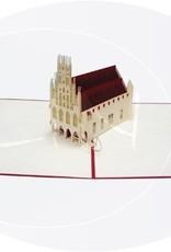 Pop Up 3D Karte, Glückwunschkarte, Reisegutschein, Münster Rathaus, N171