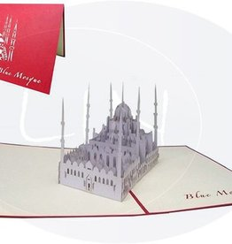 Pop up card, blue mosque