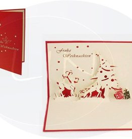 Pop up christmas card, reindeers