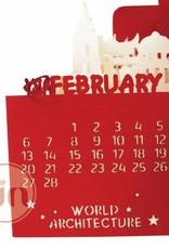 Kalender 2019, POP UP 3D Architektur Kalender, Exklusiver Tischkalender